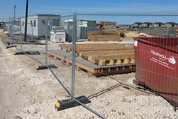 Broadfence's Temporary Fence Panels Installed