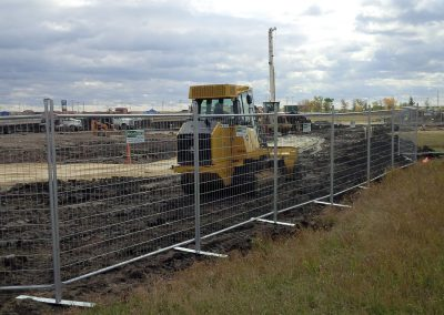 Fence rental around construction site in Manitoba